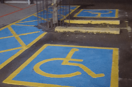 Disabled bay car park marking