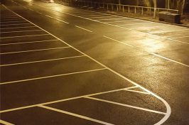 White lines in car park