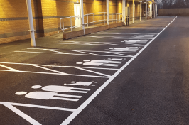 Parent and child car parking bays