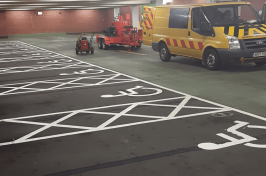 Disabled car parking bays