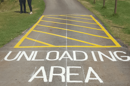 loading area road marking
