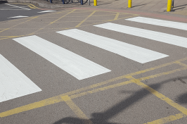 Zebra crossing line markings