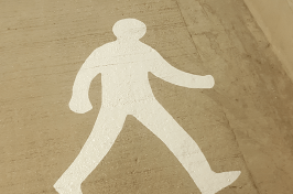 Person road marking